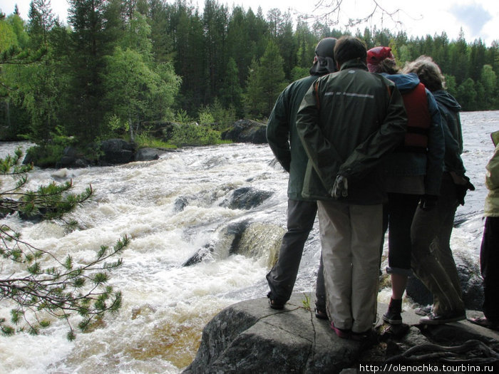 смотрим Варакский порог на реке Кереть и боимся