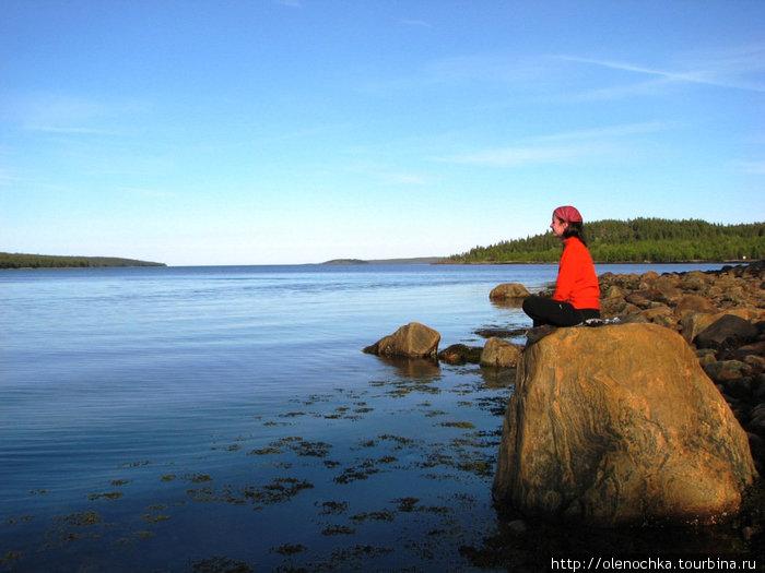 остров Горелый в Белом море.Отлив