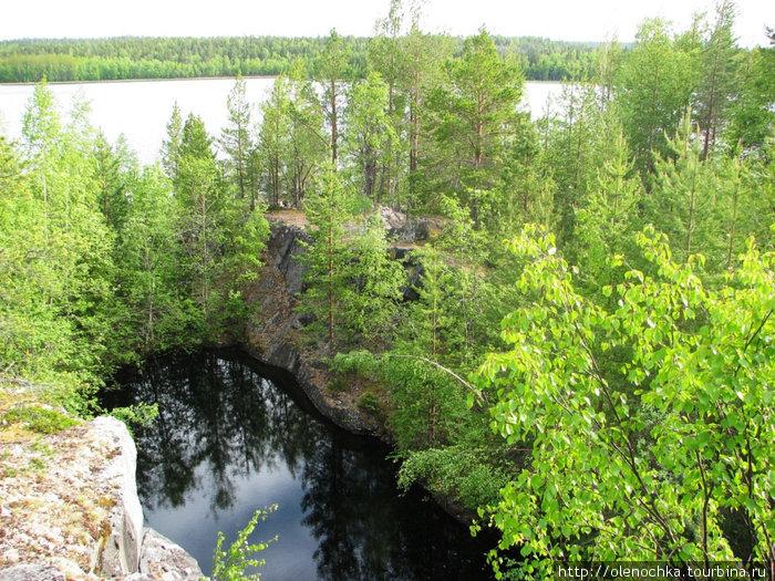 шахтные пресные озера на Оленьем острове