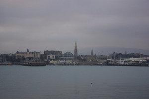 Вид на Дан-Лэре и бухту с одного из пирсов