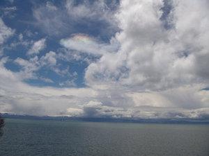 радужное облако над Севаном