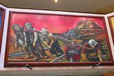 Картины рассказывают о порабощении индейского народа