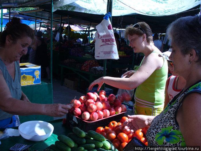 Июль Гагры 2009 г. Центральный рынок .