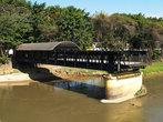 остатки первого фермового моста, памятник архитектуры  — родственник Эйфелевой башни