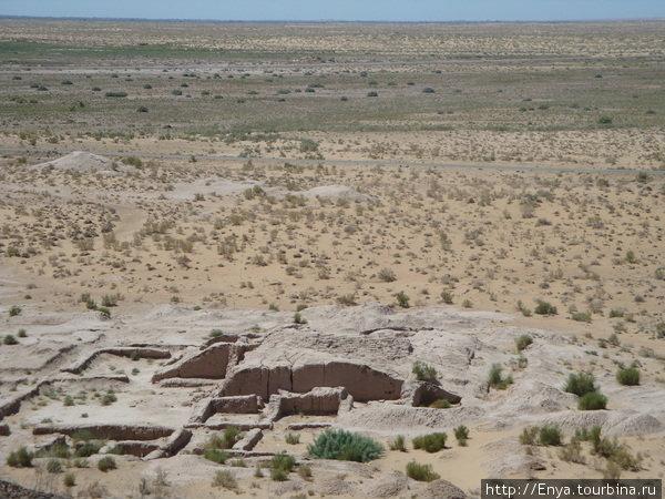 Руины древних городищ Хорезмского ханства. Аяз-Кала.