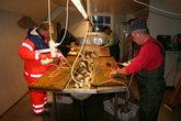 При каждой базе есть специальное помещение для обработки и заморозки рыбы