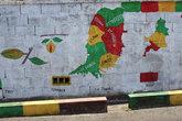 Карта острова, разбитая по приходам-провинциям, рядом изображение муската и плода какао