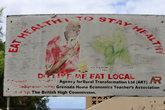 Призыв кушать местный, здоровый продукт