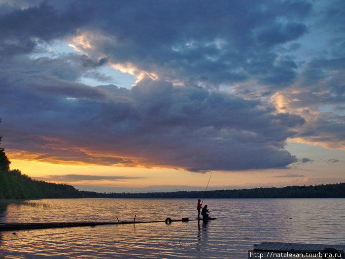 Рыбалка на озере толони
