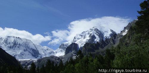 Вид из альплагеря Уллу-Тау