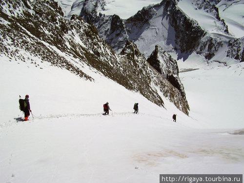 Спуск с перевала Грановского