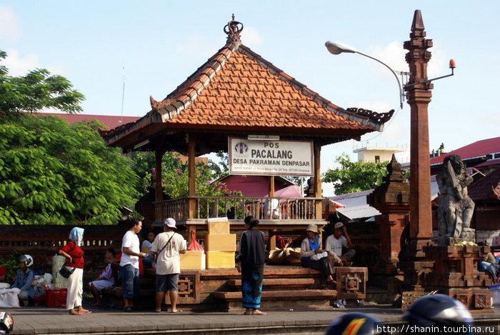 Автобусная остановка Денпасар, Индонезия