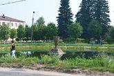 Неработающий фонтан в Палехе