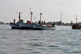 рыбацкие лодки в заливе