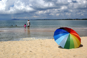 На пляже Чератинг