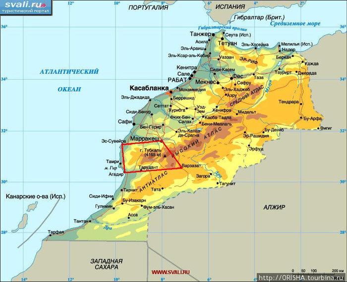 Наш маршрут по Марокко