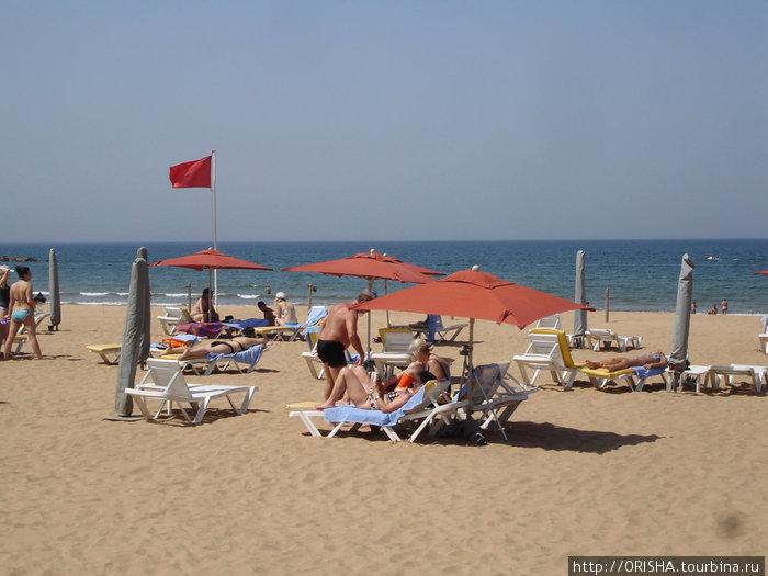 Отельный пляж