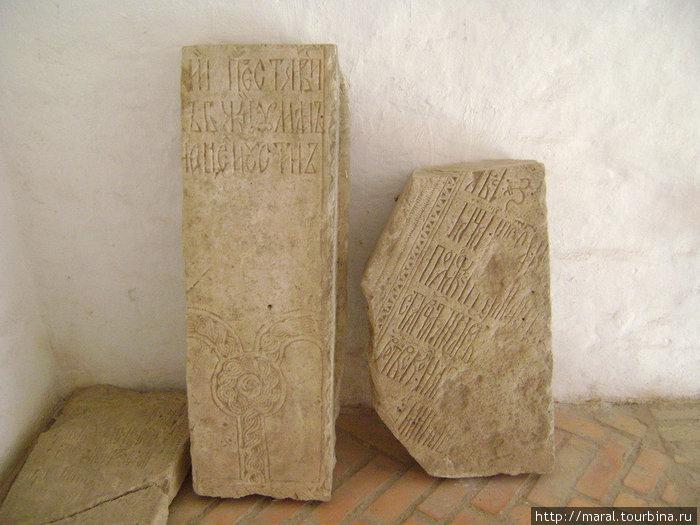 Это страницы каменной летописи об основании обители на Устье, дошедшие до нас из XVI века