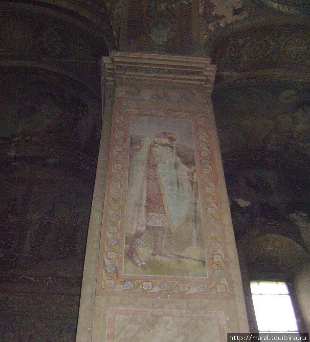 Образ князя-мученика Глеба на столпе