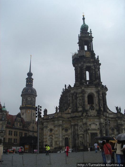 Дрезден. Было хмуро, но все равно красиво.