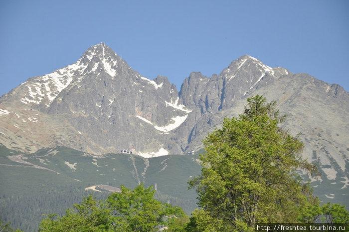 Вид на Высокие Татры из Татранской  Ломницы июньским утром.