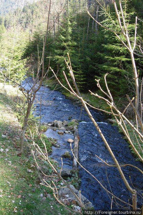 Горная речушка рядом с дорогой на Синевирское озеро