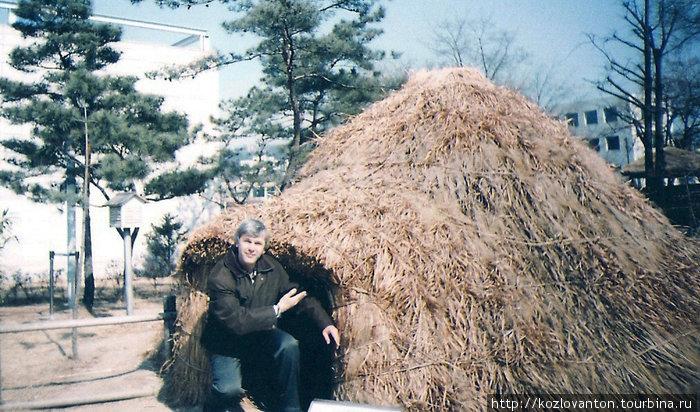 В таких хижинах когда-то жили древние корейцы.