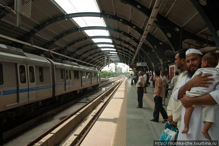 Метро Нью-Дели. Станция Рамакришна Ашраммарг(Ramakrishna Ashrammarg)