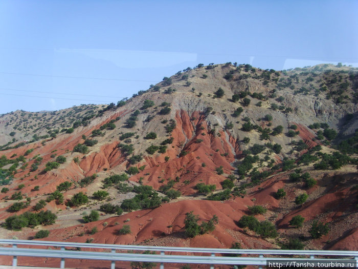 Красный оттенок говорит о содержании железа в породе...