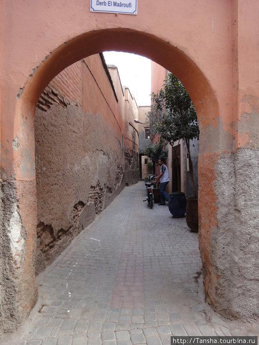 г. Марракеш. Узкие улочки старой медины (старого города)
