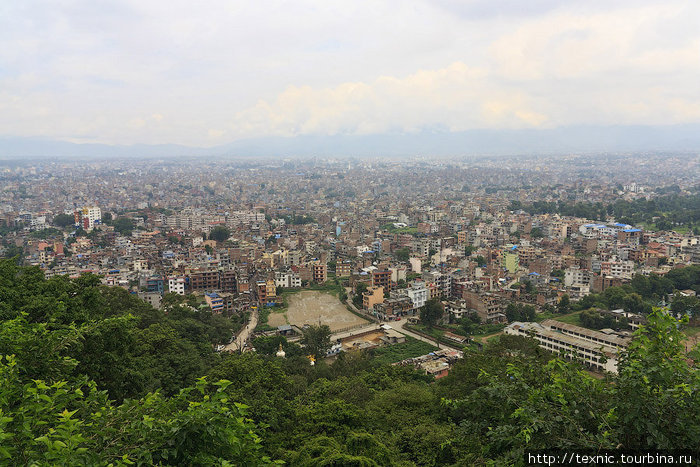 Вид на город с высоты птичьего полёта