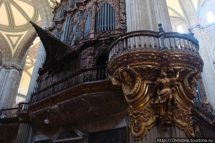 Орган в Соборе Метрополитана. Грандиозно и величественно. Мексиканцы — католики.