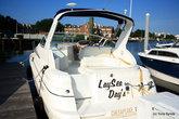 Название этого катера можно перевести как Ленивый день только со словом море спрятанном внутри.