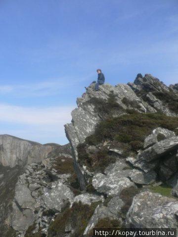 Вот здесь реально было страшно...а внизу 460 метров бездны...