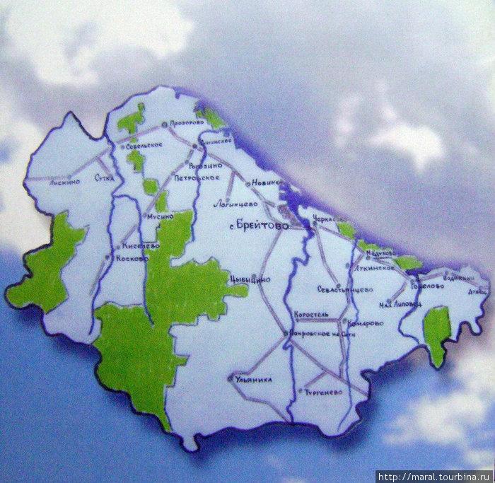 В северо-западной части Ярославской области расположен один из красивейших, экологически чистый Брейтовский район, побережье которого омывает рукотворное Рыбинское море
