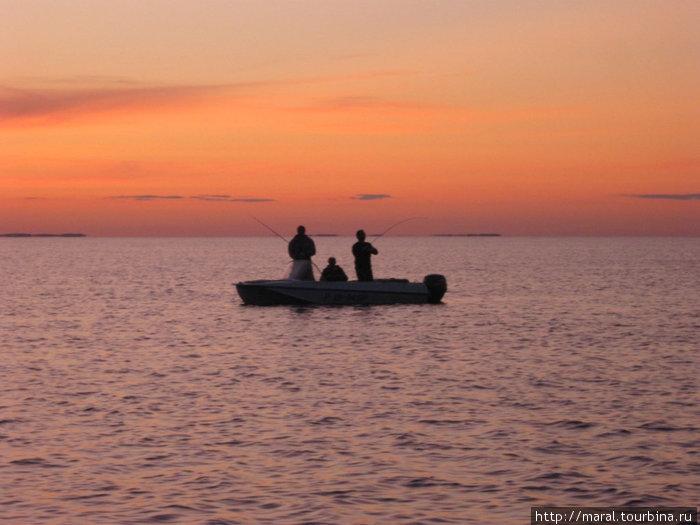 Рыбинское море манит к себе рыбаков