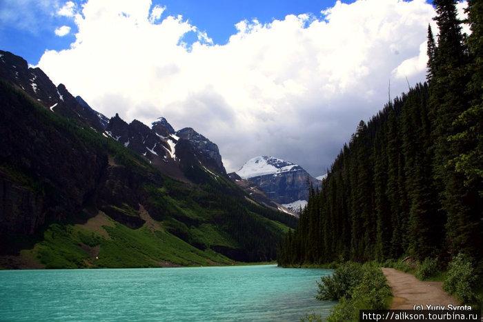 Озера и тропа.
