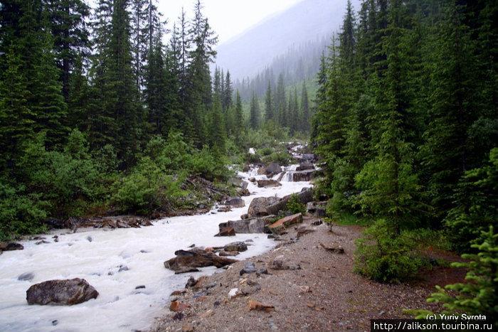 Это река, питающая озеро.