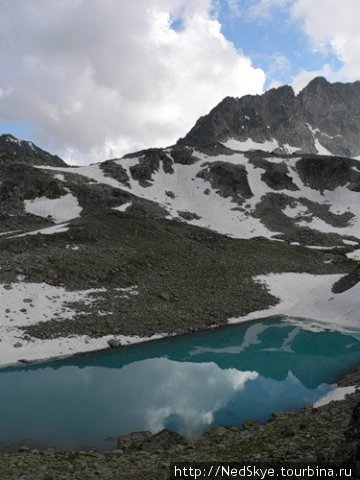 Домбай. Озеро в горах