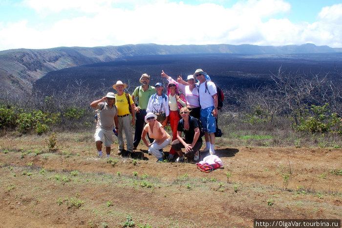 Фото цузамен — мы и кратер