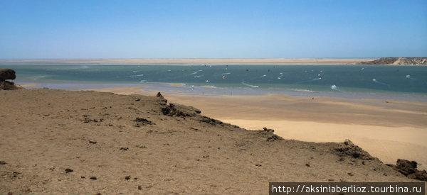 Вид с песчаных дюн на лаг