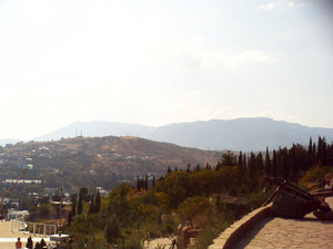 Вид на горы от церкви