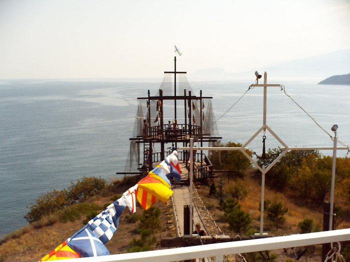 Вид на море от церкви