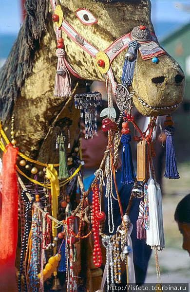 Праздник Майтреи — грядущего Будды. Считается, что новый Будда явится на зеленом коне.