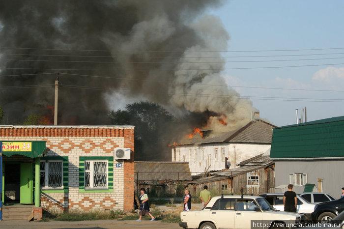 Летний пожар на ж/д станции Ардатов.