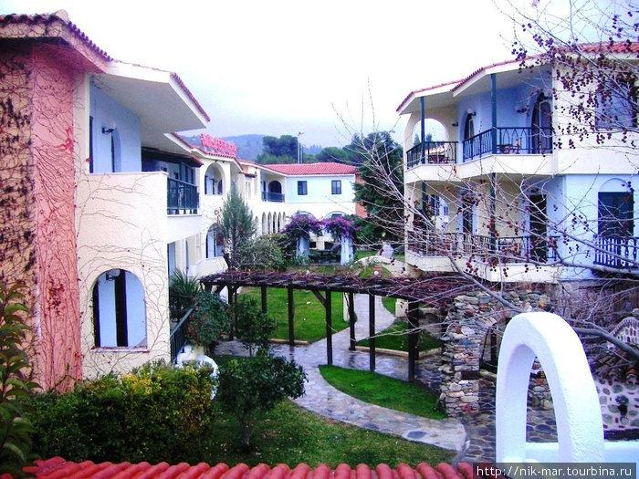 Один из уголков отеля Athena Pallas.