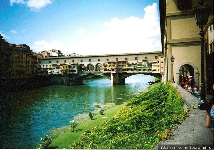 Флоренция. Мост Понте Веккио через р. Арно.