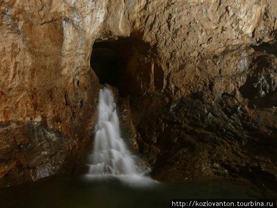 Подземный водопад.