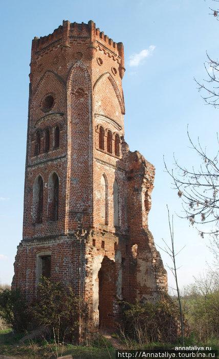 Угловая башня — все, что осталось от усадьбы Кожиных