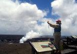 На действующем вулкане